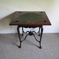 MAHOGANY ENVELOPE CARD TABLE