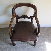 MAHOGANY BALLOON BACK DESK CHAIR